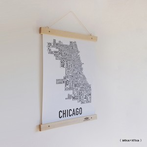 Wood Frame & Poster : 木製フレーム&ポスターW49cm×H70cm