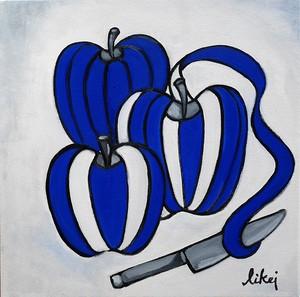 Modern series.  青い林檎の中は白