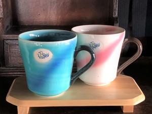 コピー:ブルー&ピンク ペアマグカップセット