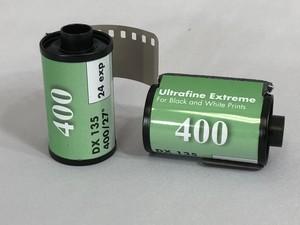 ウルトラファインEX 白黒フィルム ISO400 35mm x 24枚