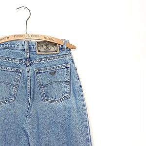 【ladies】ARMANI JEANS hi waist tapered denim pants made in italy size:28