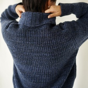 420008_Shawl Collar Cardigan(ネイビーMix)