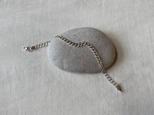 <vintage silver925>double chain bracelet