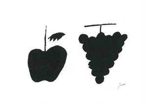 apple and grape (black and black)