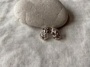 〈vintage silver925〉mesh oval pierce