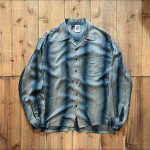 80's ケニントン(kennington)レーヨン open collar shirt