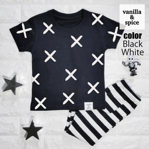 プリント 半袖 Tシャツ X 柄 バツ マーク 子供服 キッズ vanilla&spice バニラ&スパイス