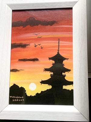 一点物の絵 no.209「五重塔」