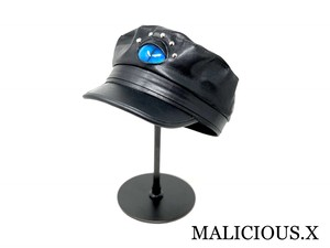 cat eye military cap / blue