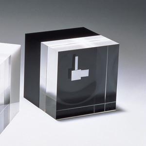 D-BROS 置き時計 ACRILIC CUBE