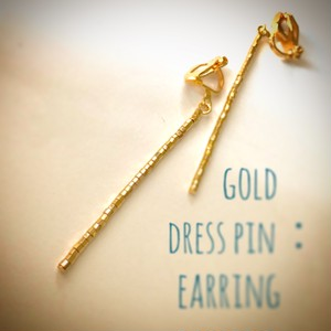 dress pin:pierce & earring