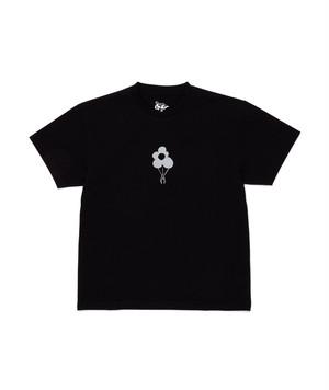 DANCER REFLECTIVE FLOWER LOGO TEE BLACK XL