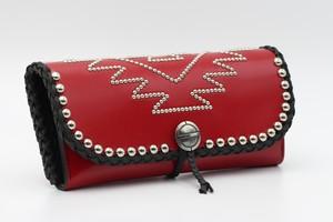 赤×黒 / 二つ折りロングウォレット