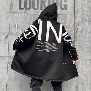 【メンズファッション】大活躍 かっこいい 暖かい フード付き 裏起毛 アルファベット ジッパー コート36267426
