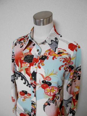 着物ブラウス Kimono Blouse LS-223/M