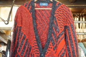 70's VITTORIO MULTA wool × acrylic Cardigan