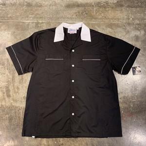 ボウリングシャツ bowling shirt 半袖 黒色 ブラック
