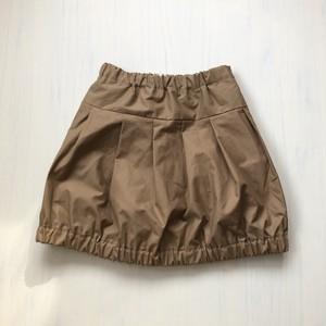 ママとオソロイ♪たっぷりプリーツのバルーンスカート(サイズ120)ベージュ