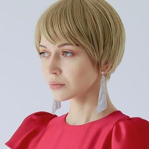TRIANGLE  BICOLOR  EARRINGS   XL