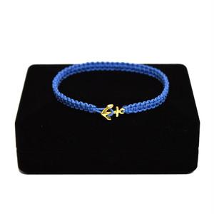 【無料ギフト包装/送料無料/限定】K18 Gold Anchor Bracelet / Anklet SkyBlue【品番 17S2010】