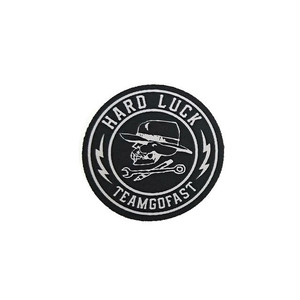 HARD LUCK - GREAT TIMES STICKER (Black) 70mm