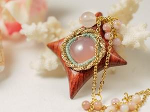 【Star】ピンクカルセドニー×ブビンガ/N397-4
