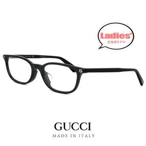 GUCCI グッチ レディース メガネ ウェリントン型 gg0123oj 007 眼鏡 黒縁 ジャパン アジアンフィットモデル