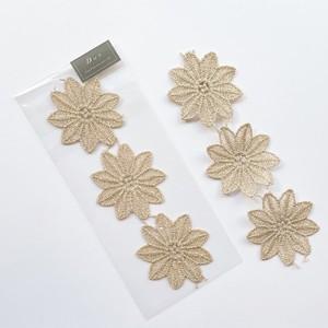 葉っぱ風とげとげお花レースパック(3p)