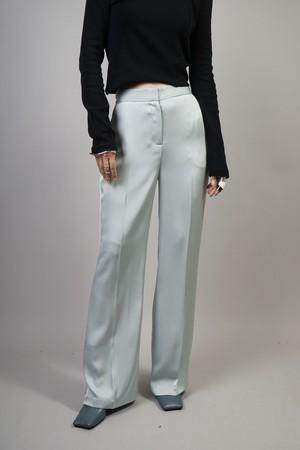 SATIN STRAIGHT PANTS  (SAX) 2106-264-HK63
