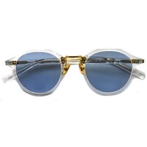 A.D.S.R./ SATCHMO03(a) サッチモ / Clear / Gold - Light Blue (クリア/ゴールド ライトブルーレンズ サングラス)