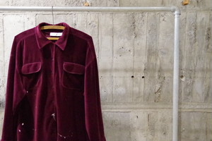 Paint velour shirt(USED)