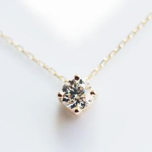 K18 0.30ct ダイヤモンド ネックレス