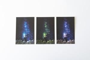 光り輝く星空のポストカード|3枚セット