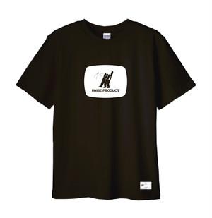 NMBE WEEK Tシャツ / ブラックxホワイト