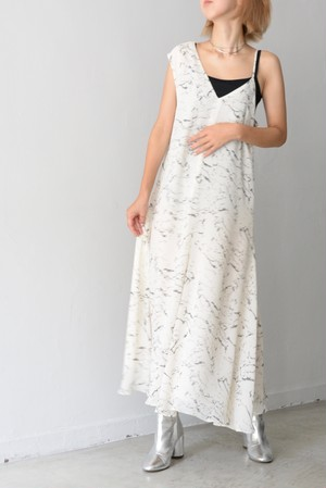 G.V.G.V. / MARBLE PRINTED CHIFFON DRESS