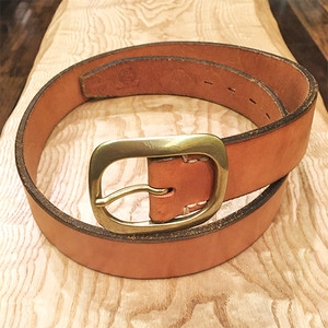 Vintage Leather Belt / Brown with Gold Buckle【クリアランスSALE!】在庫限り! 通常価格の55%OFF!!