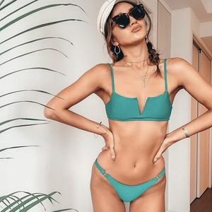 Bikini♡フロントカットアウトビキニ グリーン