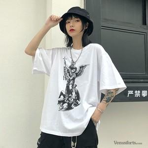 【トップス】ストリート系プリント半袖Tシャツ25995049