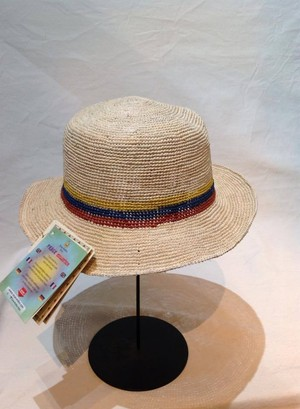 WPH033-4 grace Ecua-Andino「HIPPIE FLAGS ECUADOR SHORT BRIM」