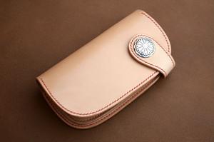 【受注製作】本革サドルレザーの長財布【コンチョ】