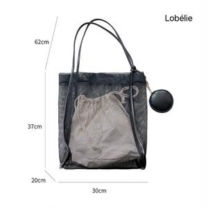 透かしメッシュビーチバッグ(ポーチ付き) LBHLF812
