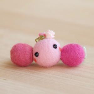 ストールピンつきcororin(ピンク)