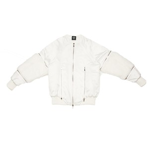 Arm Fur Blouson (White)