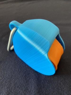 非接触アイテムFitas Finger-Shield  (Sサイズ  ブルー×オレンジ)