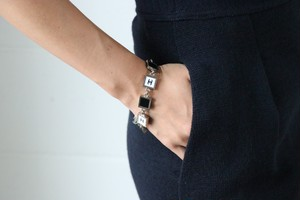 CHANEL monotone square bracelet