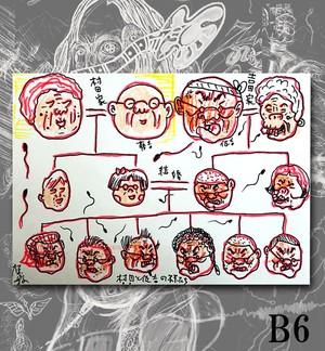 B6原画・着色ドローイング『遺伝子の行方』