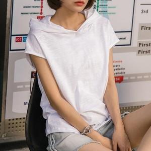 Tシャツ レディース フード付き おしゃれ シンプル 体型カバー i1818