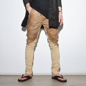 "Leather×Cotton ""Skinny""Pants 〈Suntanned Skin〉"