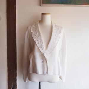 linen lace collar summer jacket