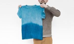 空海藍ヘンプ×オーガニックコットンTシャツ